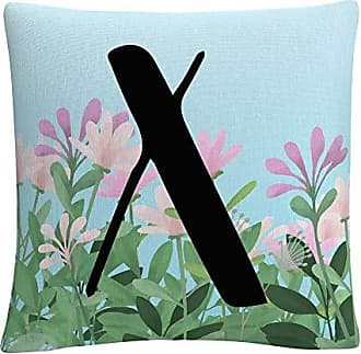 Trademark Fine Art Pink Floral Garden Letter Illustration X by ABC