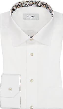 Eton Übergröße : Eton, Businesshemd mit Brusttasche in Weiss für Herren
