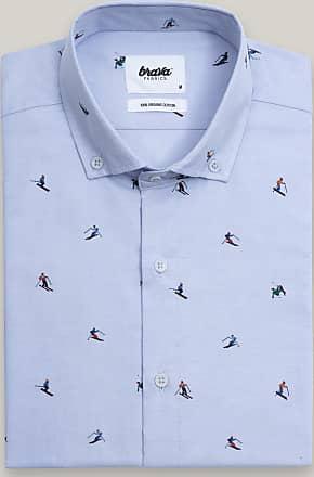 Brava Fabrics Mens Shirt - Mens Casual Shirt - Mens Shirt - 100% Cotton - Model Slalom Navy