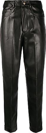 Philosophy di Lorenzo Serafini faux-leather cropped trousers - Black