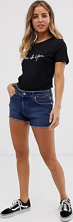 Wrangler Pantaloncini di jeans boyfriend-Blu