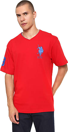 U.S.Polo Association Camiseta U.S. Polo Logo Vermelha