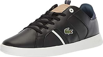 Lacoste Mens Novas Sneaker, Black/Natural, 17 Medium US