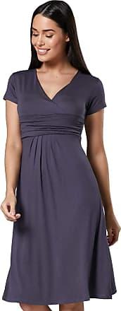 Zeta Ville Womens Maternity Wrap V-Neck Summer Dress - Short Sleeves - 108c (Graphite, UK 14, XL)
