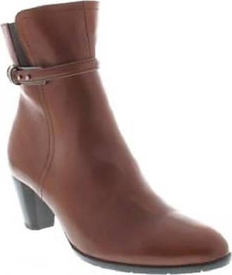a4edf51d63c Ara 12-43465-07 Womens and Ladies Black and Brown Leather Ankle Boots 36
