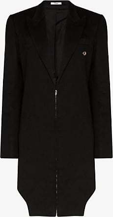 Zilver Womens Black Zip-up Wool Coat