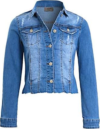 SS7Damen Jacke Blau Denim Blue