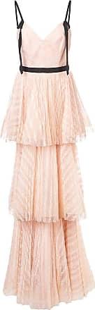Marchesa long empire line dress - Pink