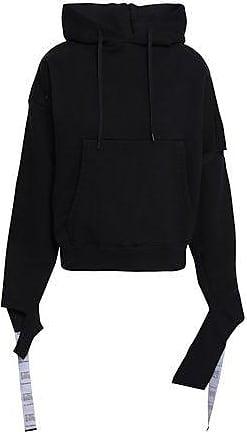 b7131d8c4015 VETEMENTS Vetements Woman Cutout French Cotton-blend Terry Hoodie Black Size  XS
