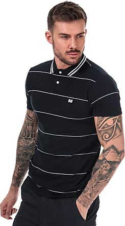 Weekend Offender Mens Mens Milano Fine Striped Polo Shirt in Navy - XL