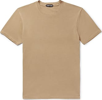 Tom Ford Lyocell And Cotton-blend Jersey T-shirt - Camel