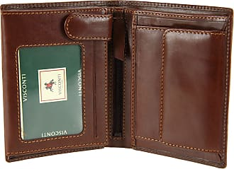 Visconti Mens Top Grade Italian Leather Wallet for Credit Cards, Banknotes & Coins - MZ3 (Brown)