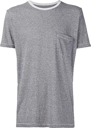 321 Camiseta com bolso no busto - Cinza