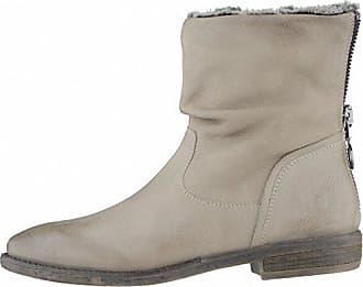 5c04093e7bca SPM kuschlige Damen Leder Stiefeletten Taupe, Warmfutter, Memory Fußbett,  Fersen-Reißverschluss,