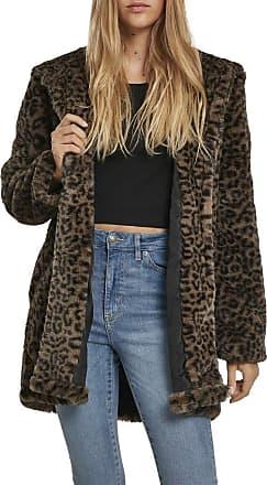 Urban Classics Womens Ladies Teddy Coat, Multicolour (Dark-Olive Leo 02269), X-Large