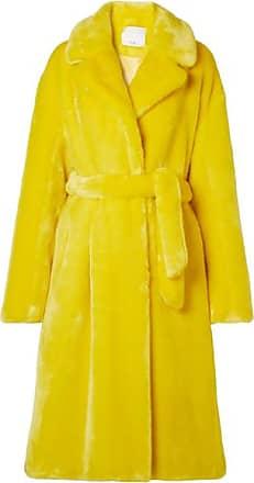 Tibi Oversized Faux Fur Coat - Chartreuse