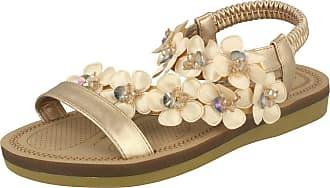 Anne Michelle Ladies Flower Trim Sandals