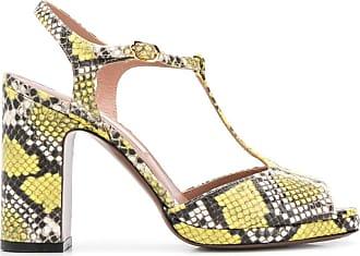 L'autre Chose Sandália com estampa de pele de cobra - Amarelo