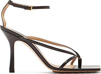 Bottega Veneta Squared Open-toe Leather Sandals - Womens - Black