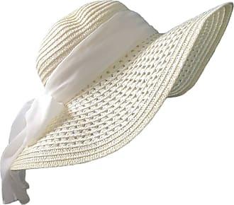 TOSKATOK Ladies Wide Brimmed Floppy Straw HAT Cream