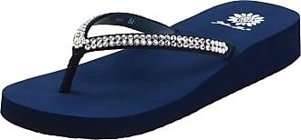 Yellow Box Womens Jello Flip Flop, Navy, 8 UK