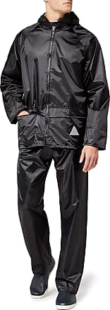 Result Mens Heavyweight Waterproof Jacket And Trouser Set Black XX-Large