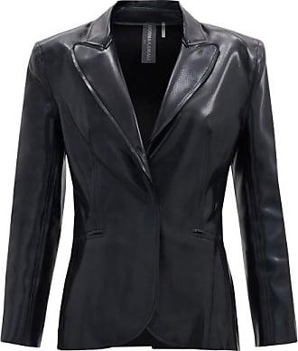 Norma Kamali Single-breasted Faux-leather Jacket - Womens - Black