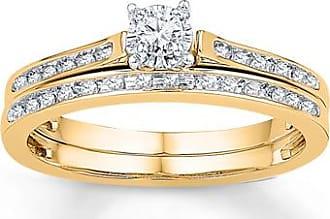 Kay Jewelers Diamond Bridal Set 1/8 ct tw Round-cut 10K Yellow Gold