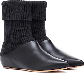 Gabriela Hearst Rocia knit and leather ankle boots