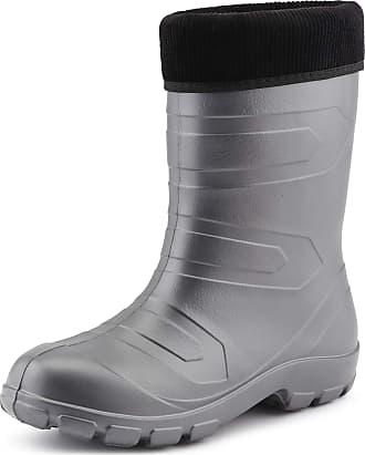 Ladeheid Womens EVA Thermo Extra Light Wellington Boots Rainy Wellies Rain Boots LALMG879 (Silver/Black, 6.5 UK)