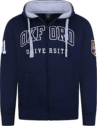 Oxford University Official Licensed Embroidered Hoodie Unisex Mens Womens Souvenir Gift Super Soft Full Zip Up + One Free T-Shirt (XS, Navy)