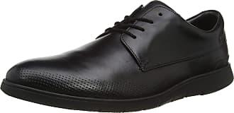 Clarks Mens Helston Walk 261487807 Derbys, Black (Black Leather Black Leather), 10 UK