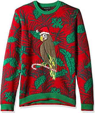 Blizzard Bay Mens Parrot Palms Ugly Christmas Sweater, Large