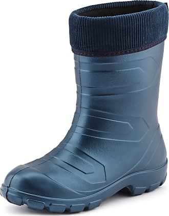 Ladeheid Womens EVA Thermo Extra Light Wellington Boots Rainy Wellies Rain Boots LALMG879 (Metal Blue/Navy, 3.5 UK)