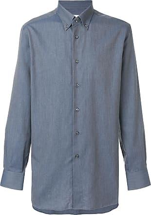Brioni Camisa com botões - Azul