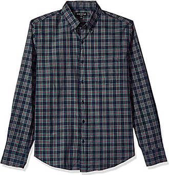 J.crew Mens Slim-Fit Long-Sleeve Plaid Shirt, Navy Harvest, M