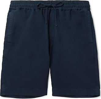 Ymc You Must Create Cotton And Linen-blend Drawstring Shorts - Navy