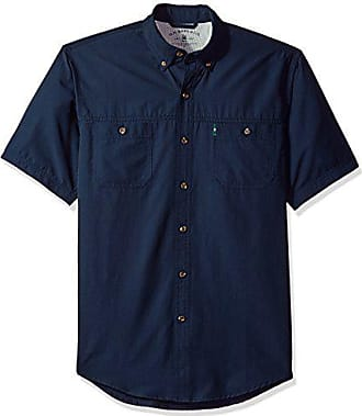 G.H. Bass & Co. Mens Explorer Short Sleeve Button Down Fishing Shirt, Legacy Rich Navy Blazer S2018 1, Medium