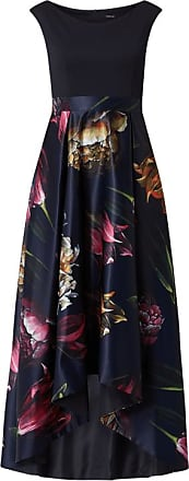 Swing Abendkleid mit floralem Muster