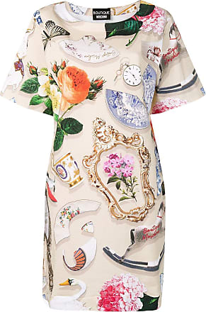 Moschino printed T-shirt dress - Neutrals