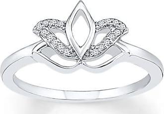 Kay Jewelers Lotus Flower Ring 1/20 ct tw Diamonds Sterling Silver