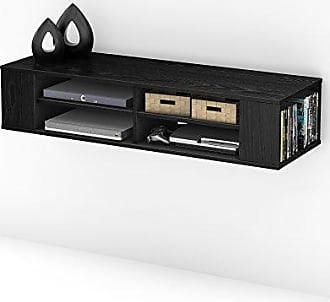 South Shore Furniture City Wall Mounted Media Audio/Video Console, Black Oak