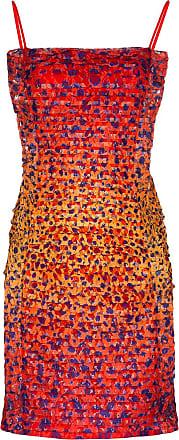 House Of Holland Vestido com estampa de guepardo - Vermelho