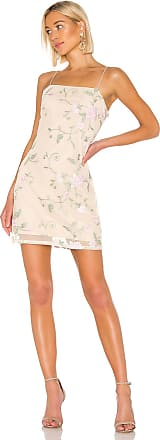 Kendall + Kylie X REVOLVE Embroidered Mini Dress in Beige