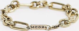 Icon Brand Bracciale con catena spessa oro brunito