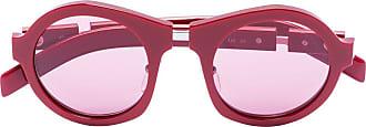 Prada Óculos de sol redondo - Vermelho