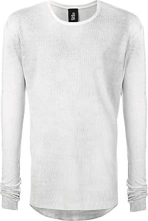 Thom Krom Camiseta canelada mangas longas - Cinza