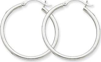 Quality Gold 14kt White Gold 2mm Hoop Earrings