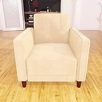 Dorel Home Products DHP DZ95998 Ivana Accent Chair, Tan Velvet