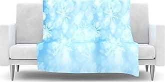 KESS InHouse Snap Studio Winter is Coming Aqua Fleece Throw Blanket, 40 by 30-Inch